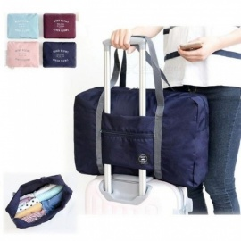 Casual Large Capacity luggage Packing Tote/Shoulder Travel Shopping Big Bag Folding Clothes Storage Pouch Organizer Pink