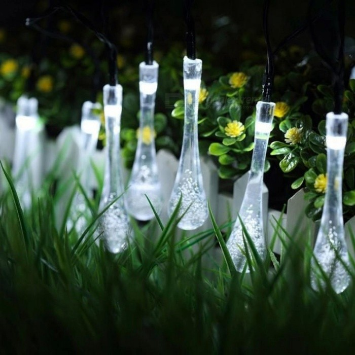 20 LED Solar Powered Water Drop String Lights LED Fairy Light Wedding Christmas Party Festival Outdoor Indoor Decor