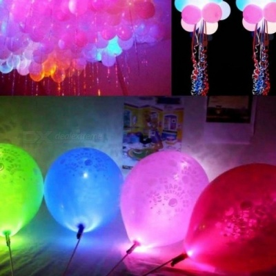 100PCS/Lot Colorful LED Lamps Balloon Lights for Paper Lantern Balloon Christmas Party Decoration Halloween Decorations Multi