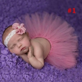 Princess Plum Peacock Feather Tutu Skirt with Vintage Headband Newborn Photography Props Baby Tutu Shower Gift 3M/#1