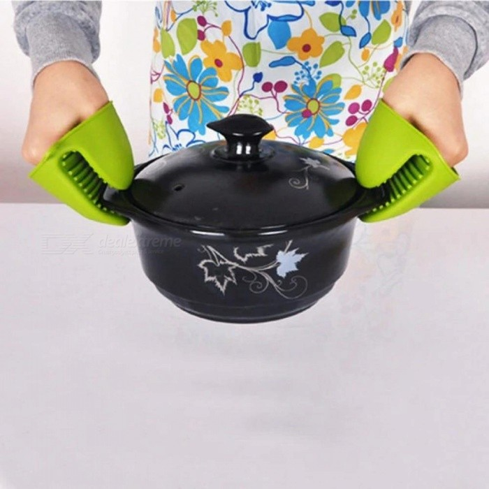 Silicone Baking Tools Take Heat Clamp Kitchen Microwave Oven Gloves 9*8*6.5MM Color In Random For 1PCS