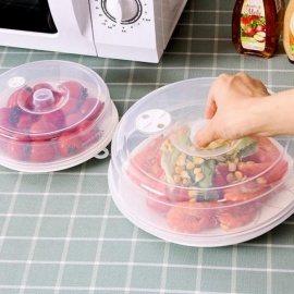 Plastic Sealing Cover Food Storage Lid Microwave Oven Crisper Cap Refrigerator Dish Lids Plate Dustproof Cover Kitchen Tool Transparent L