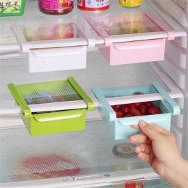 Creative Refrigerator Storage Box Fresh Spacer Layer Storage Rack Pull-out Drawer Fresh Spacer Sort Kitchen Accessories Supplies White