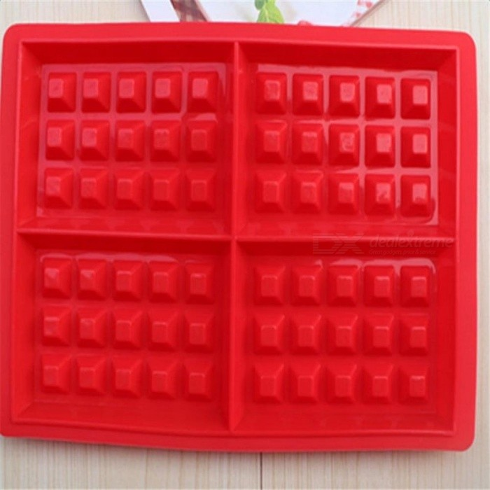 Silicone Waffle Mold Shape Forms 4-Cavity Silicone Oven Pan Microwave Baking Cookie Cake Muffin Cooking Tools