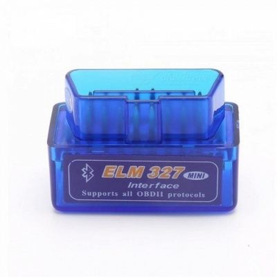 Super Mini ELM327 Bluetooth V2.1 OBD2 Mini Elm 327 Car Diagnostic Scanner Tool For ODB2 OBDII Protocols Blue