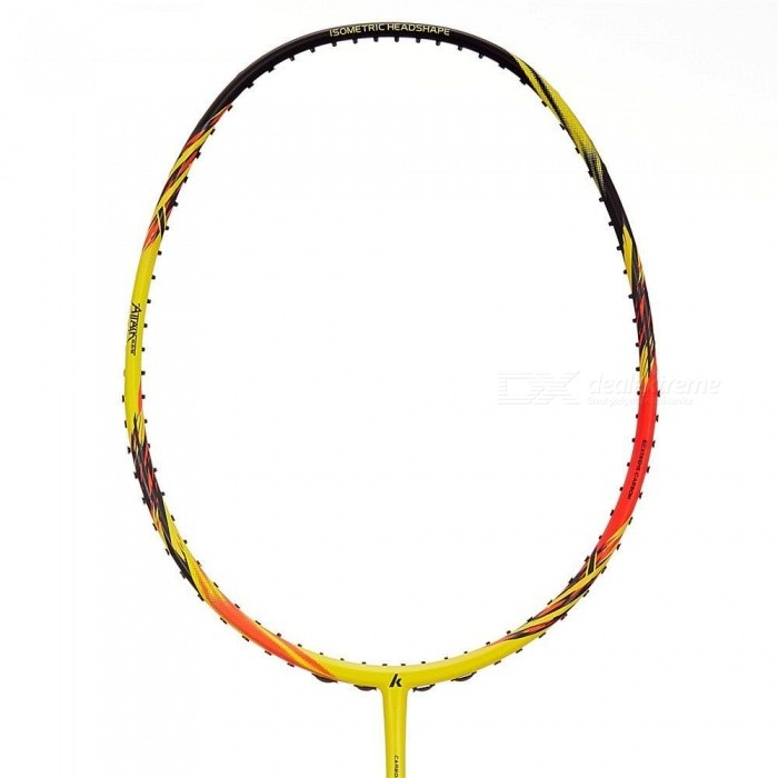 Original Kawasaki Full Carbon Badminton Racket Raquette Badminton With Gift For 1 Pieces Red&Yellow Color