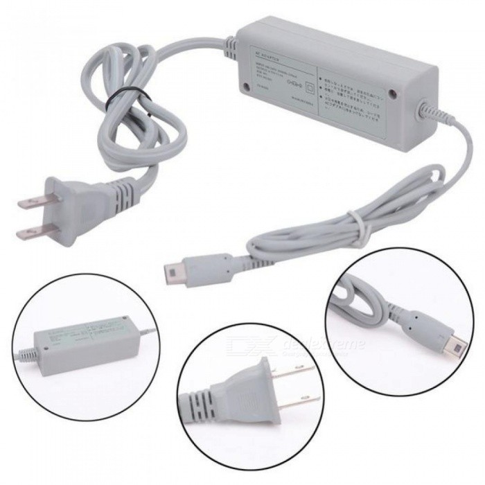 US Plug AC Power Supply Adapter Gamepads Cable for Nintendo Wii U Console Gamepad 100-240V AC Charger Adapter Cable For Wii U