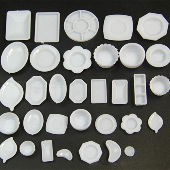 33PCS/Lot Plate Cup Dish Bowl Tableware Set  Dollhouse Miniature Toy Doll Food Kitchen Living Room Accessories 1:12 Scale
