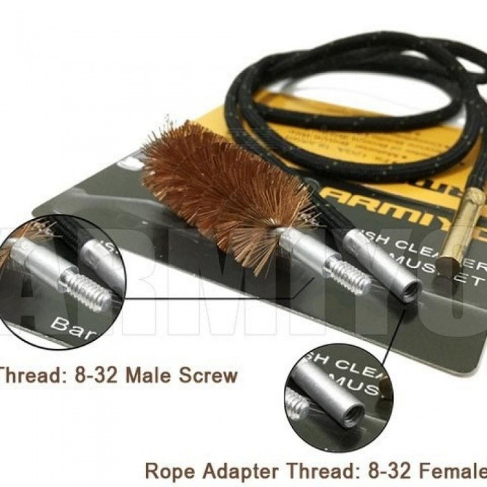 30 Cal 7.62mm Hunting Rifle Cleaner Gun Barrel Brush One-piece Bore Cleaning Kit Fits AK Screw Thread 8-32