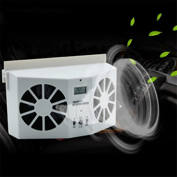 Auto Car Fans Solar Powered Cooling System Kit DC12V White Air Vent Exhaust Fan With Rubber Stripping Car Accessories