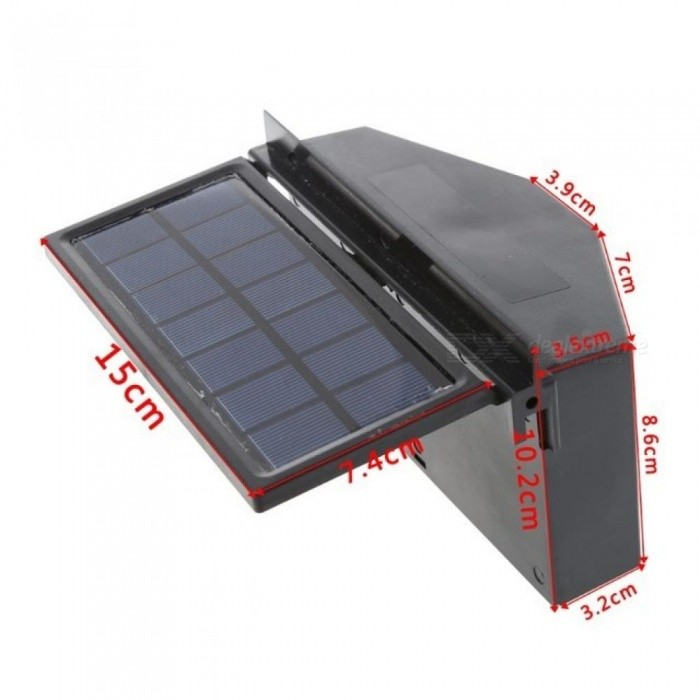 Solar Power Car Window Windshield Auto Air Vent Cooling Exhaust Dual Folding Fan System Cooler Car Styling