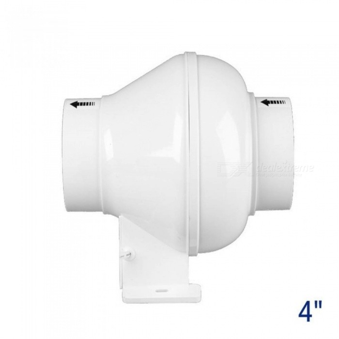 4-Inch Inline Duct Fan Plastic Pipe Exhaust Fan Mini Ventilation Fan For Ceiling Bathroom Fan 100MM With White Color