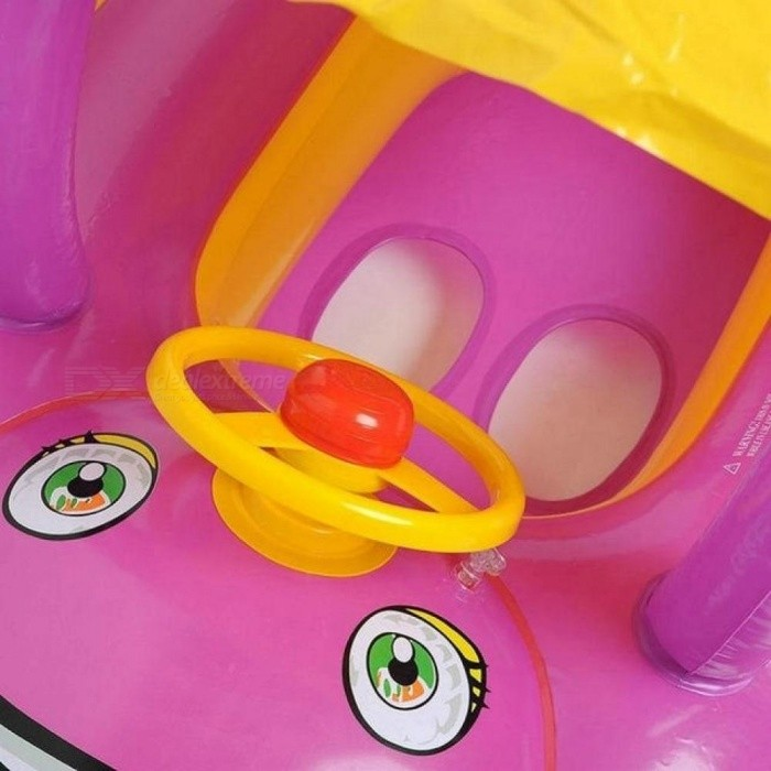 Children Swimming Pool Toys Inflatable Swimming Ring Portable Float Car Boat Cartoon Baby Float Seat Water Sports Swim Pool Toys