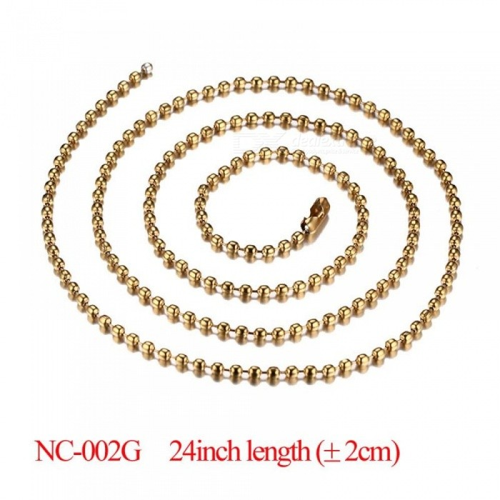 DIY Chain Necklace Stainless Steel Women Men Jewelry Snake Round Beads for Pendant Accessories Gold&Silver Optional