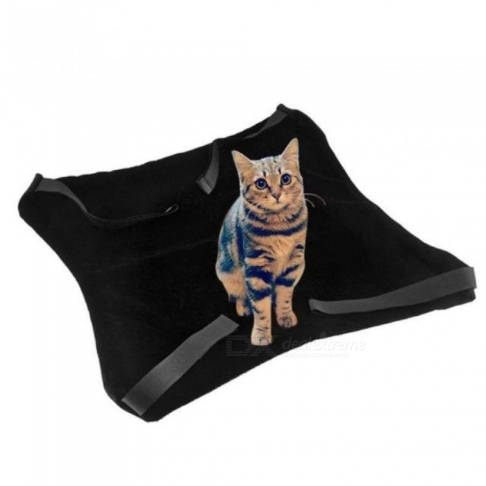 Cat Hanging Bed Cat Mat Warm Soft Kitten Large Hanging Bed Pet Cat Hammock Bed for Small Dog Puppy Black&Grey Optional