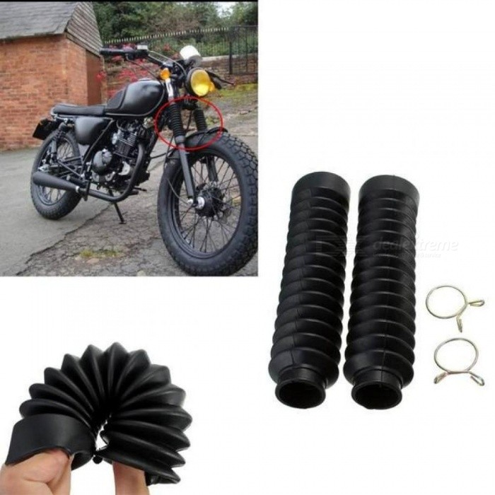 2PCS Motorcycle Front Fork Cover Gaiters Gators Boot Shock Protector Dust Guard For Off-Road Pit Dirt Bike Motocross Bicycle