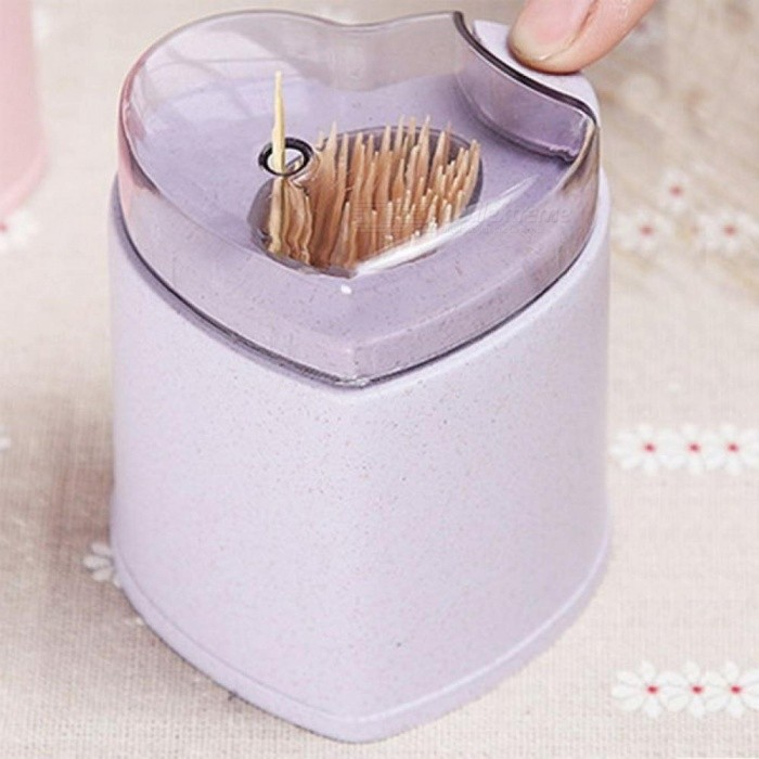 Automatic Toothpick Holder Container Wheat Straw Household Table Toothpick Storage Box Toothpick Dispenser