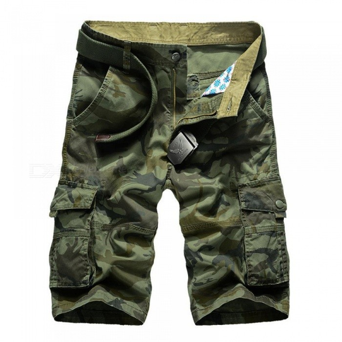 Men Cargo Shorts Top Design Camouflage Military Army Khaki Shorts Homme Summer Outwear Hip Hop Casual Cargo Camo Men Shorts