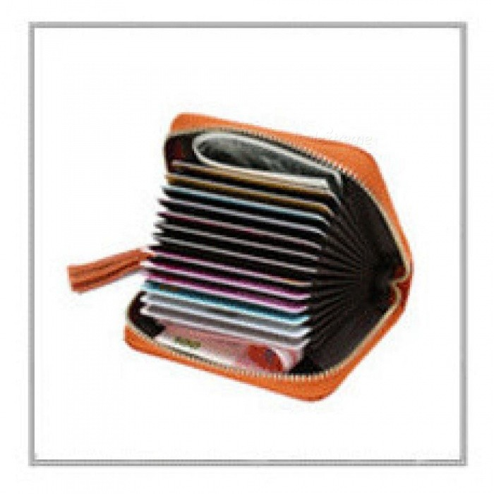 men and women genuine leather unisex business card holder wallet bank credit card case id holders - Business Card Holder Wallet