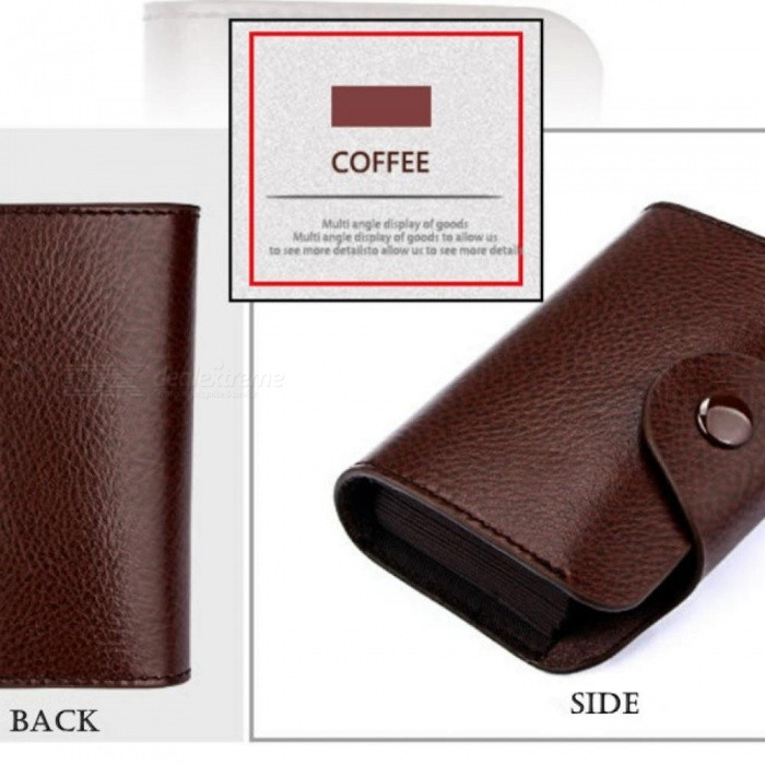 Men And Women Genuine Leather Unisex Business Card Holder Wallet Bank Credit Card Case ID Holders Women Purse