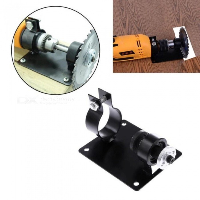 Electric Drill Cutting Polishing Grinding Seat Stand 10/13MM Holder Set Machine Bracket Rod Bar +2 Wrenches +2 Gaskets Metal