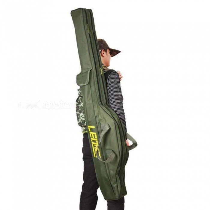 Folding Fishing Rod Bags Fishing Bags 420D Zipped Case Fish Pole Tools Storage Bag Case Holder Gear Tackle Pesca 100CM/150CM