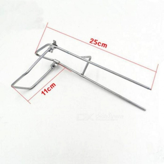 Outdoor Sports Professional Portable Adjustable Stand Fishing Rod Rest Holders Alloy Material Silver Color