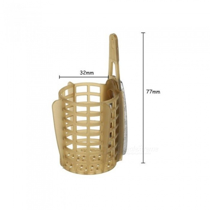 30g/40g/50g/60g/70g/80g Carp Fishing Feeder Bait Cage Lure Holder Basket Cage Fishing Trap Fishing Accessory with Lead Sinker
