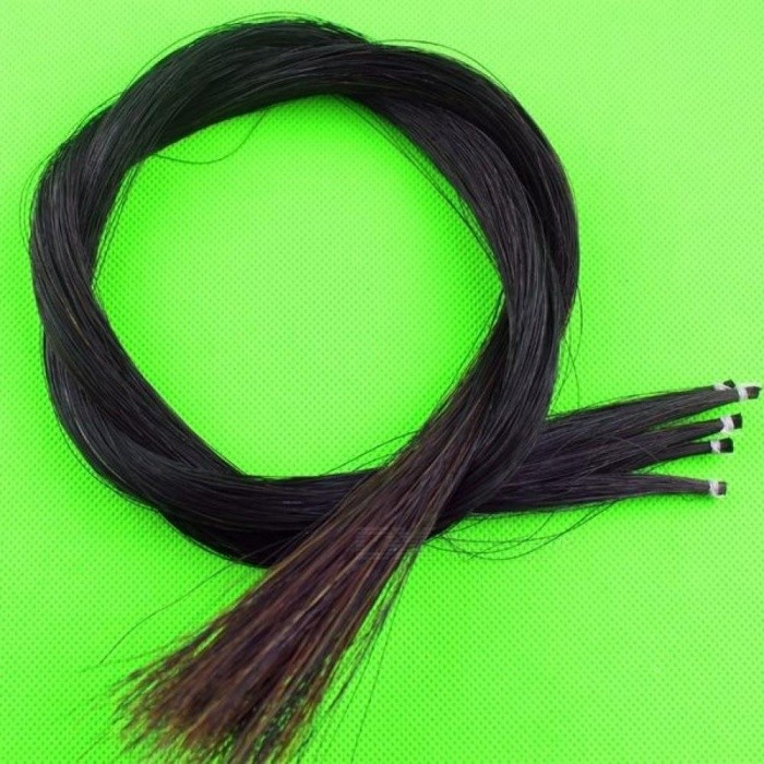 5 Hanks Violin Viola Cello Mongolia With Natural Black Color Bow Hair Horse Tail Size For 80-85 CM Length