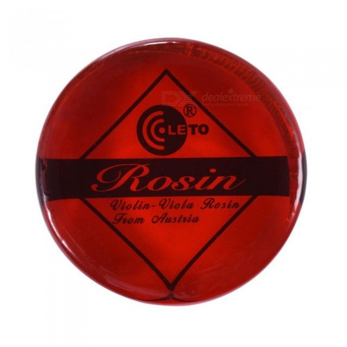 Transparent Red Resin Rosin Colophony Low Dust Handmade Rounded with Wooden Box Universal for Violin Viola Cello Erhu