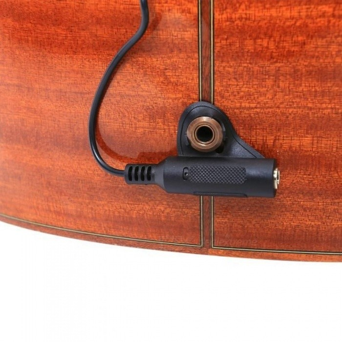 Adeline AD-20 Guitar Violin Viola Cello Banjo Contact Micro Electronic Pickup with Strap Button Hanger Guitar Ukulele Mandolin