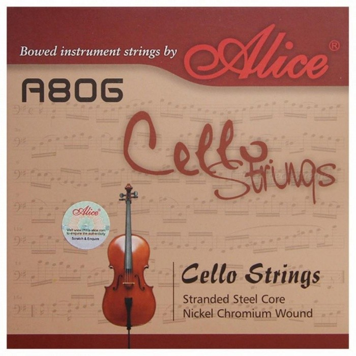 A806 General Cello Strings with Stranded Steel Core And Nickel-Chromium Wound For The Cello Accessories