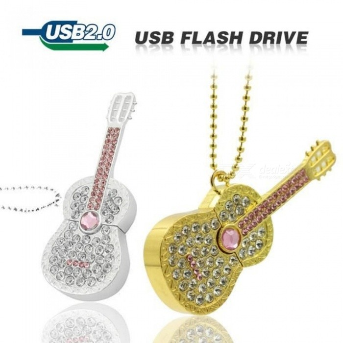 Diamond Guitar Cello USB Flash Drive 64GB 32GB 16GB 8GB Pen Drive Memory Flash Card Stick Pen Drive Luxury U Disk Girl Gift