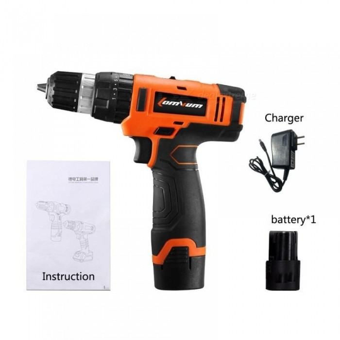 16V Multi-function Cordless Screwdriver Lithium/ Battery Electric Double Speed Adjustment Mini Drill Press Motor Torsion