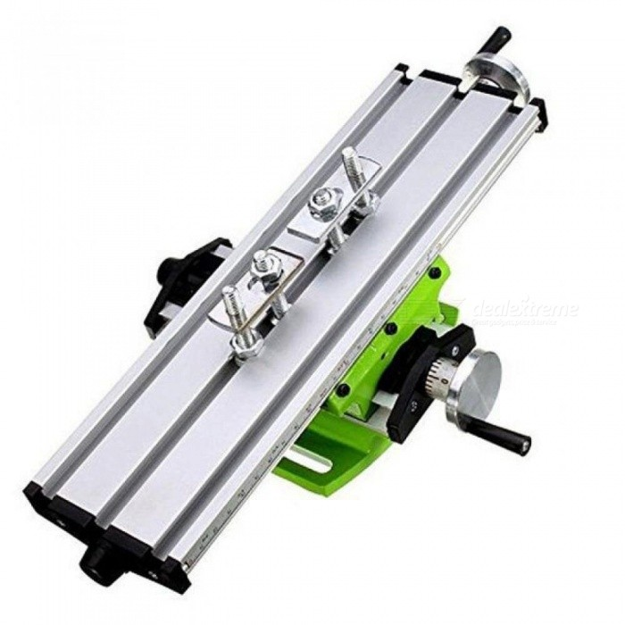 Milling Machine Compound Work Table Cross Slide Bench Drill Press Vise Fixture Aluminum Alloy Material
