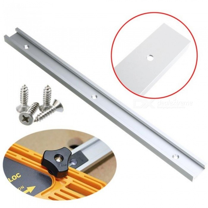 Aluminum T-Tracks T-Slot Miter Track Jig Fixture Slot 400mm For Drill Press Router Table Band Saw 1PCS