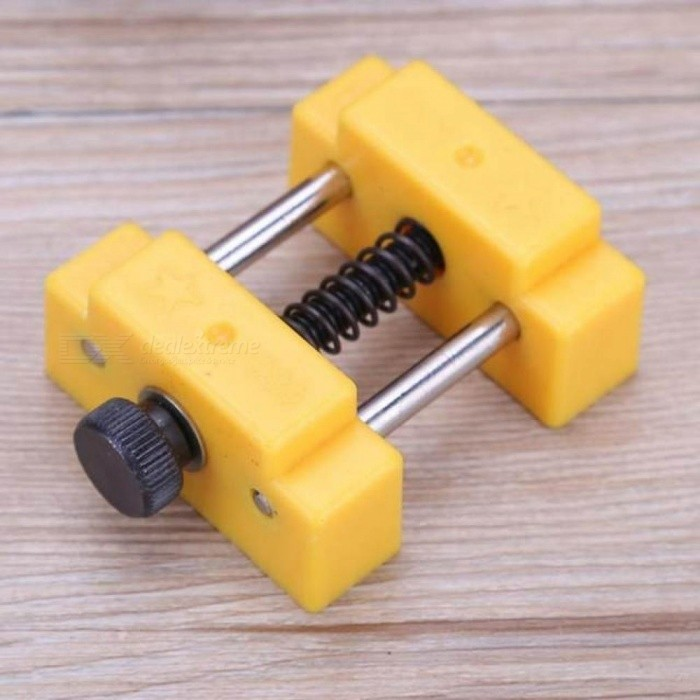 Portable Drill Press Vise Table Bench Vise For Jewelry Modeling Work Walnut Clamp DIY Sculpture Craft Fixed Repair Tool