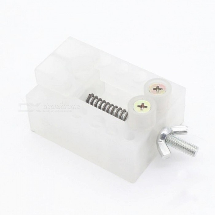 Jaw Bench Clamp Mini Drill Press Vice Microclip Flat Vise DIY Hand Tools 65*50*25 MM For 1 Pieces White Color