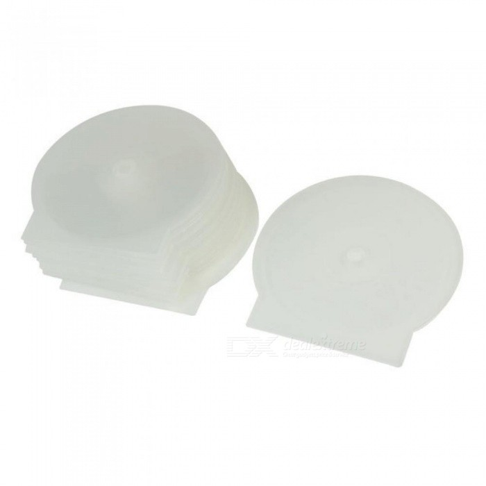 Round Shape Design Cases Plastic Material Clear White Color Size For 4.8