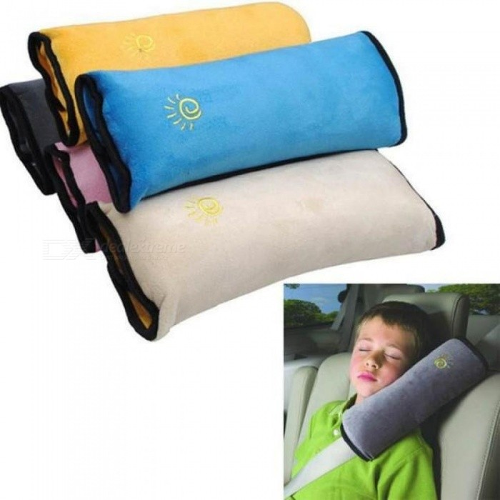 Baby Children Safety Strap Car Seat Belts Pillow Shoulder Protection Car Styling Accessories Gray Blue Pink 3 Color