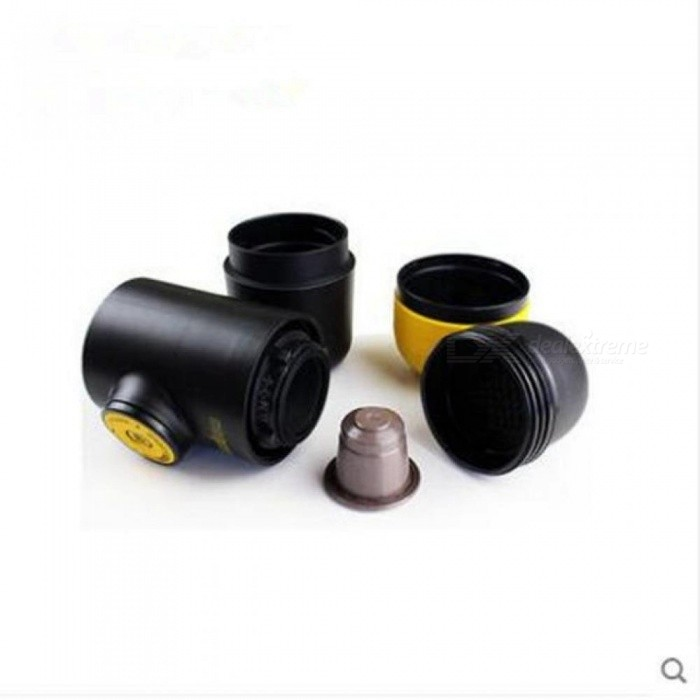 Yellow Design Manual Coffee Maker Hand Pressure Portable Capsules Coffee Machine For Nespresso Capsules