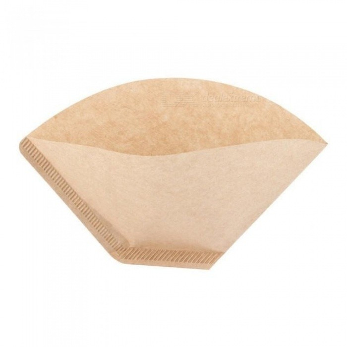 Unbleached Coffee Filter Papers Wood Original Hand Drip Paper Cones Cups Brewer Espresso Coffee Filters Strainer 100PCS/Lot