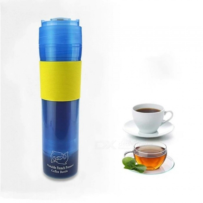 Manual Coffee Maker Hand Operated Coffee Machine For Home Mini Portable Espresso With Blue & Yellow Color