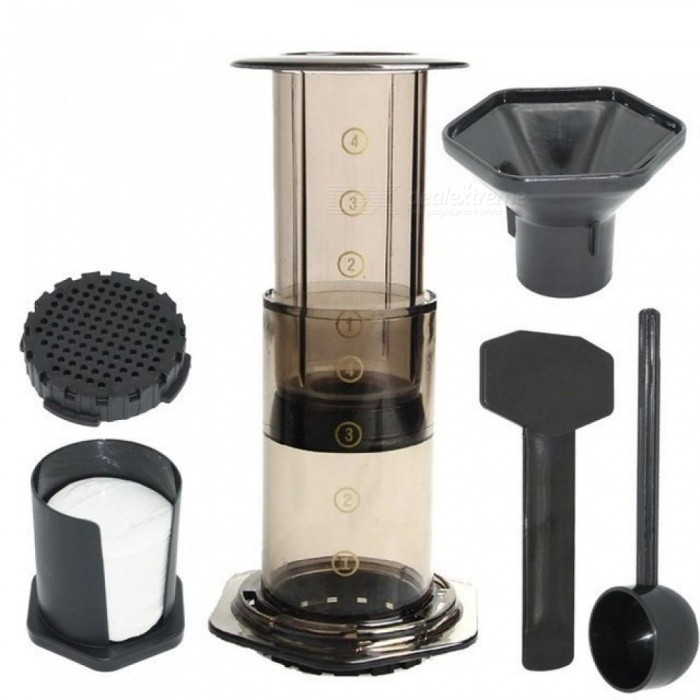 French Press Coffee Maker Pot Portable Coffee Maker Aeropress Espresso Machine with 350 PCS Filter Papers