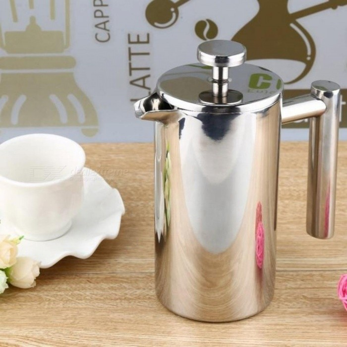 350ML Espresso Coffee Maker Pot Practical Stainless Steel Cafetiere Double Wall Insulated Tea Coffee Maker With Filter For Home