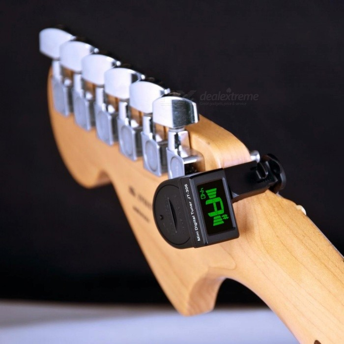 Mini Guitar Tuner Digital LCD Clip-On Tuner for Electric Acoustic Classic Guitar Chromatic Guitar Bass Free Shipping JT-306
