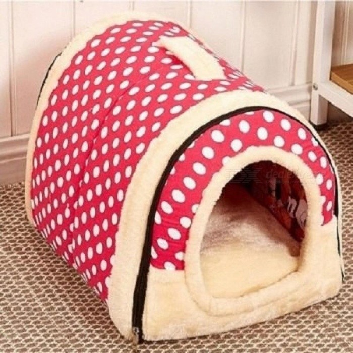 Multifunctional Dog House Nest with Mat Foldable Pet Dog Bed Cat Bed House for Small Medium Dogs Travel Pet Bed Bag