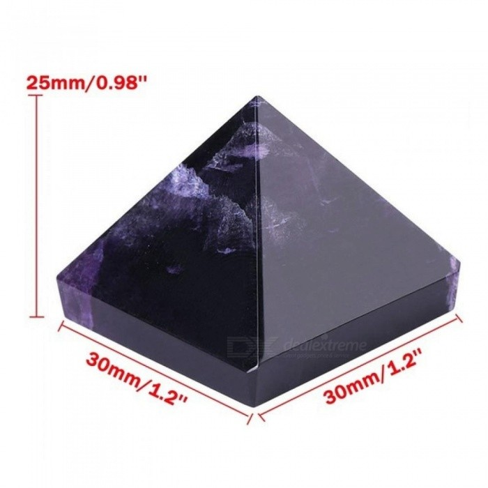 Purple Reiki Energy Charged Large Amethyst Pyramid Crystal Natural Healing Home Decor Feng Shui Magic Crafts Ornaments