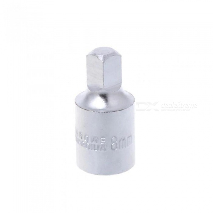 8MM Square Oil Sump Drain Plug Key Tool Remover For Renault Citroen Peugeot With Silver Color For 1 PCS