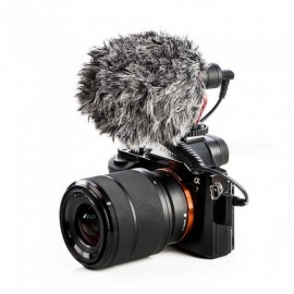 BY-MM1 VideoMic Condenser Microphone on-camera Vlogging Recording Microphone for iPhone Nikon Canon DSLR Camera Gimbal With Rig Light Kit
